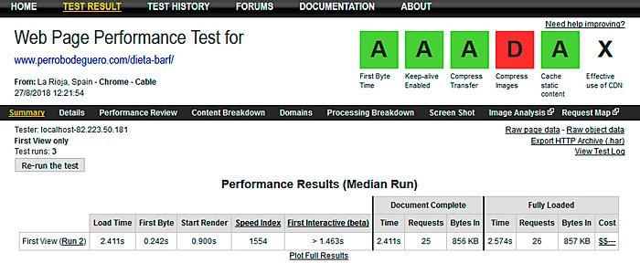 Plantilla de prueba del sitio web Genesis Speed