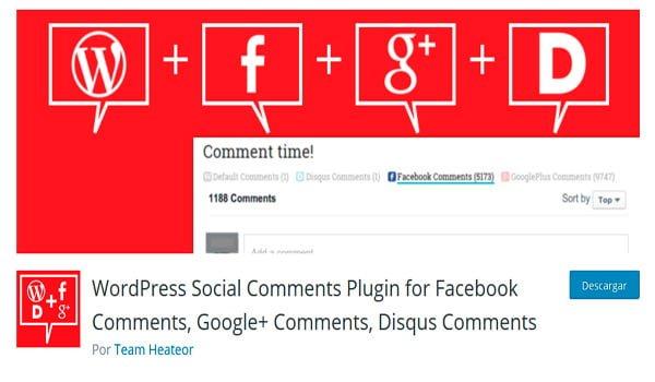 Complemento de comentarios sociales
