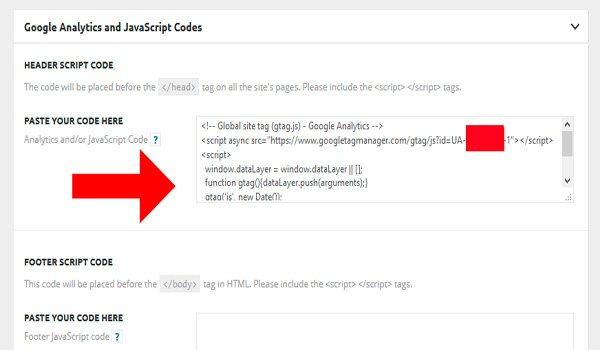 Pon tu código de análisis en WordPress