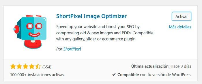Complemento Optimizador de imágenes de píxeles cortos